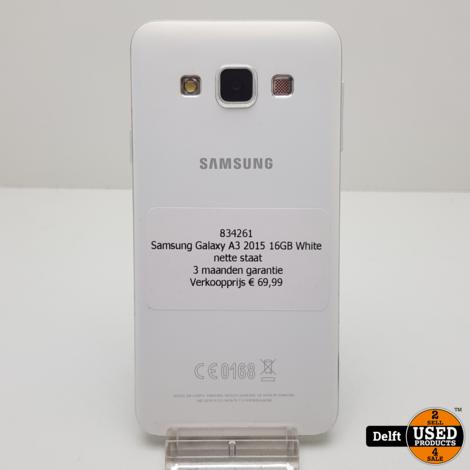 Samsung Galaxy A3 2015 16GB White nette staat 3 maanden garantie