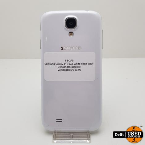 Samsung Galaxy s4 16GB White nette staat 3 maanden garantie