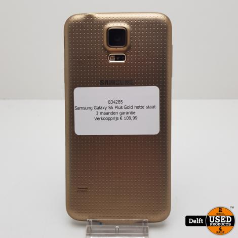 Samsung Galaxy S5 Plus Gold nette staat 3 maanden garantie