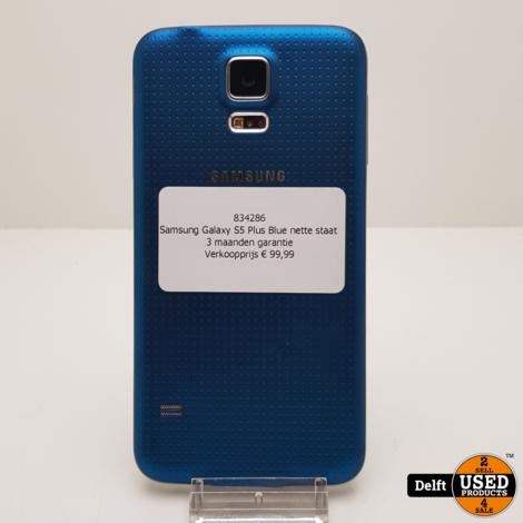 Samsung Galaxy S5 Plus Blue nette staat 3 maanden garantie