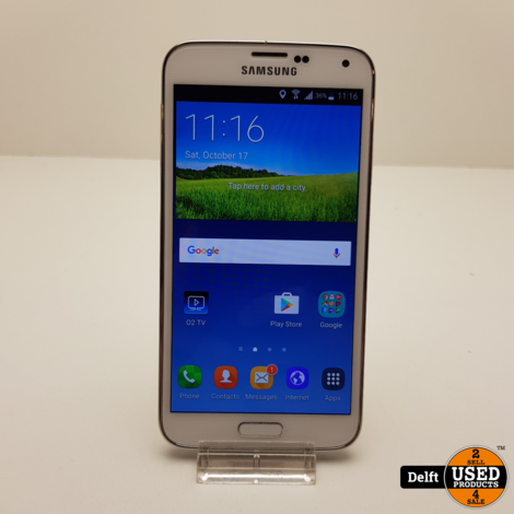 Samsung Galaxy S5 White nette staat 3 maanden garantie