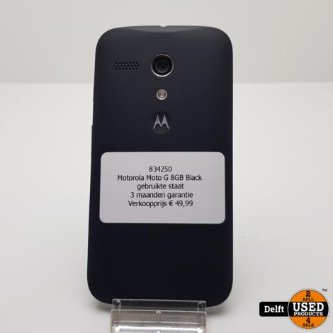 Motorola Moto G 8GB Black gebruikte staat 3 maanden garantie