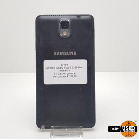 Samsung Galaxy Note 3 32Gb Black nette staat 3 maanden garantie
