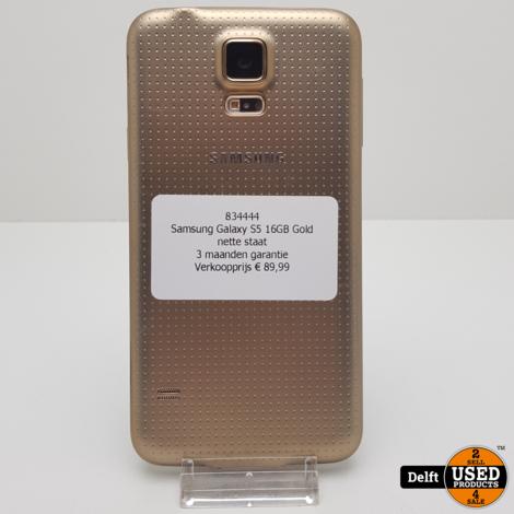Samsung Galaxy S5 16GB Gold nette staat 3 maanden garantie