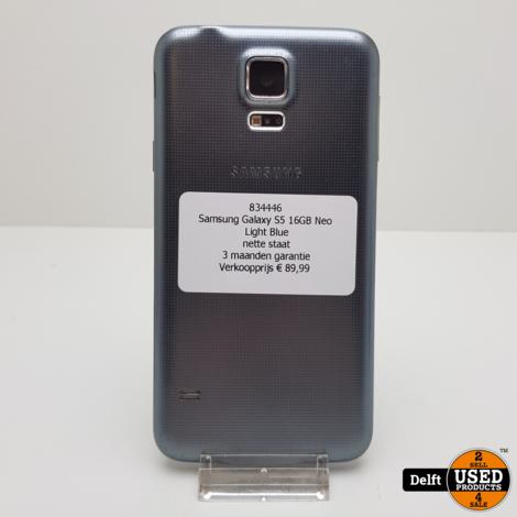 Samsung Galaxy S5 Neo 16GB Light Blue nette staat 3 maanden garantie