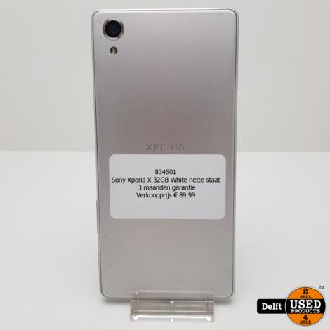 Sony Xperia X 32GB White nette staat 3 maanden garantie