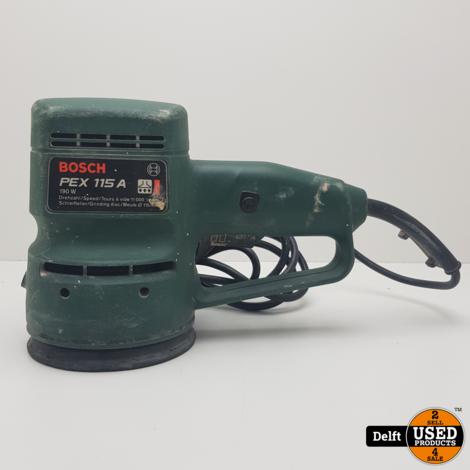 Bosch Pex 115 A centrische schuurmachine 1 maand garantie