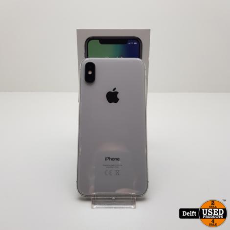 iPhone X 64GB Silver nette staat 3 maanden garantie