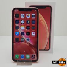apple iPhone Xr 128GB Coral nette staat 3 maanden garantie