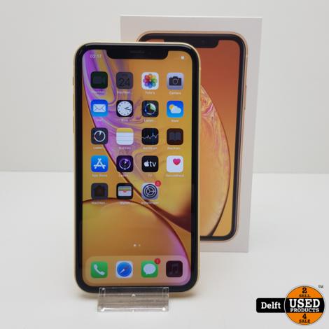 iPhone Xr 128GB Yellow nette staat 3 maanden garantie