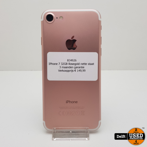 IPhone 7 32GB RoseGold nette staat 3 maanden garantie