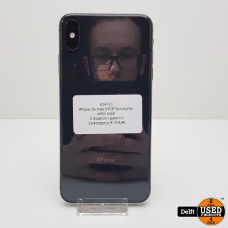 iPhone Xs max 64GB Spacegrey nette staat 3 maanden garantie