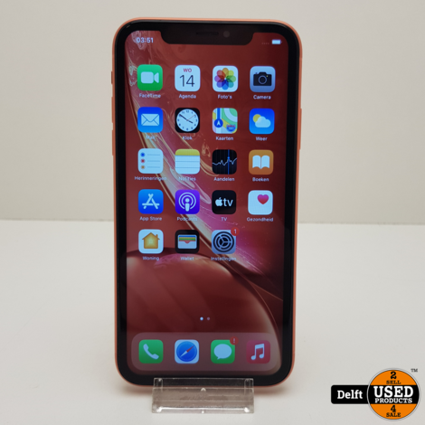 IPhone XR 64GB Coral nette staat 3 maanden garantie