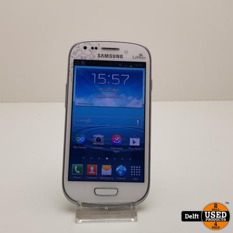 Samsung Galaxy s3 Mini 16GB White nette staat 3 maanden garantie
