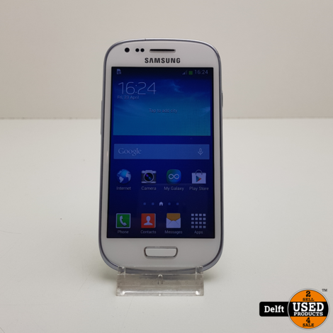 Samsung Galaxy s3 Mini 8GB White nette staat 3 maanden garantie