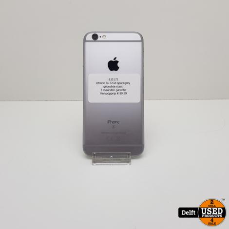 IPhone 6s 32GB spacegrey gebruikte staat 3 maanden garantie