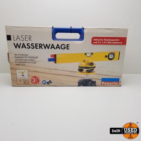 Laserwaterpas Powerfix nieuw 1 maand garantie