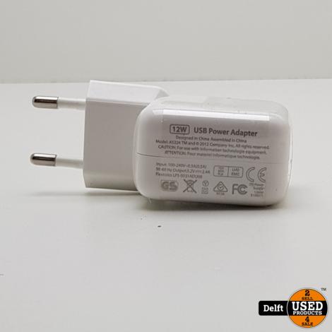 IPad  USB oplader 12W nieuw Third party 1 maand garantie