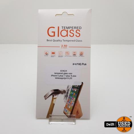 tempered glass voor iPhone 6 plus/ 7 plus/ 8 plus