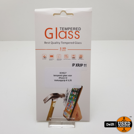 tempered glass voor iPhone Xr