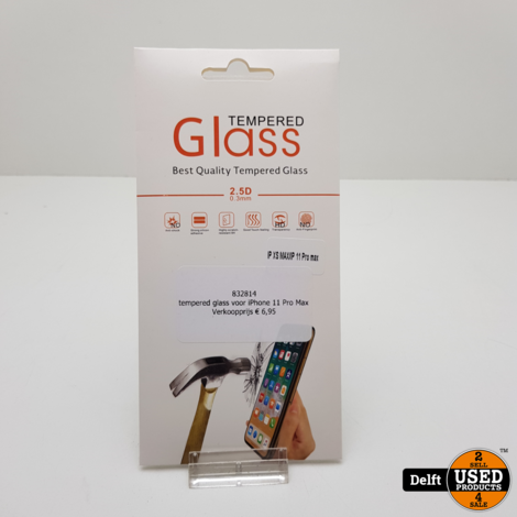 tempered glass voor iPhone 11 Pro Max