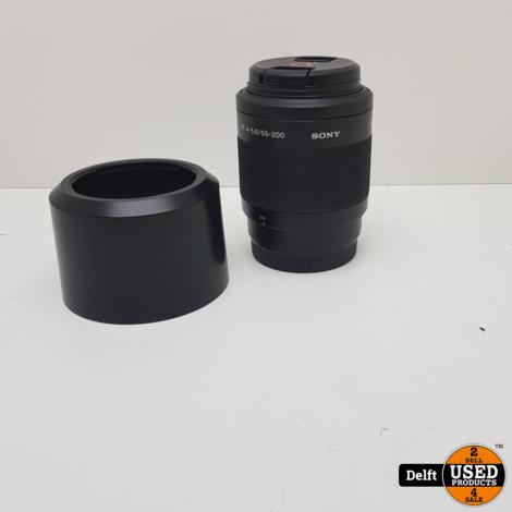 Sony SAL55200 dt 4-5.6/55-200 lens nette staat 1 maand garantie