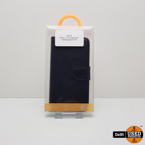 iPhone 11 Pro boek hoesje zwart 1 maand garantie
