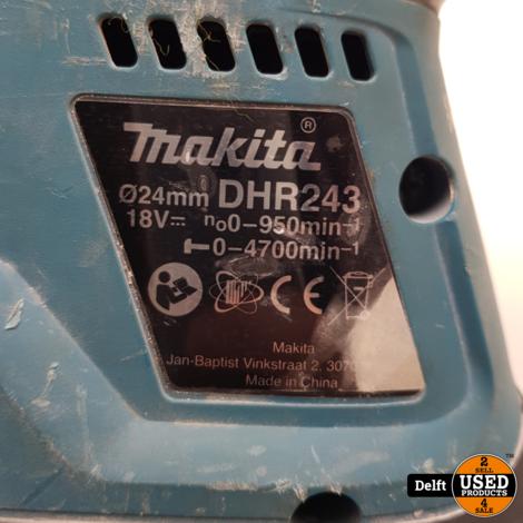 Makita DHR243 snoerloze betonboor redelijke staat 1 maand garantie