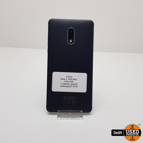 Nokia 6 32GB Black nette staat 3 maanden garantie