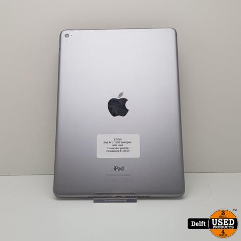 iPad Air 2 32GB Spacegrey nette staat 3 maanden garantie