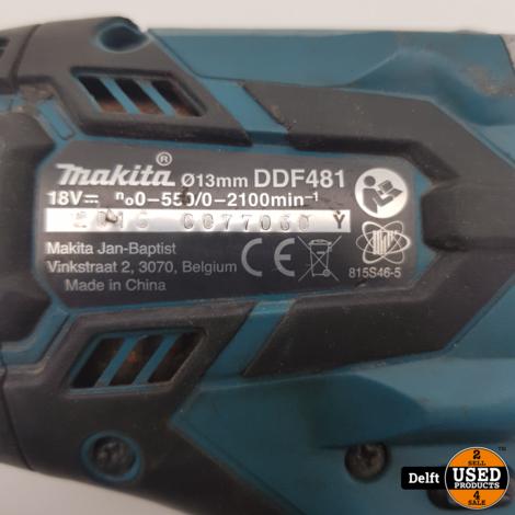 Makita DDF481 accuboortol redelijke staat 1 maand garantie