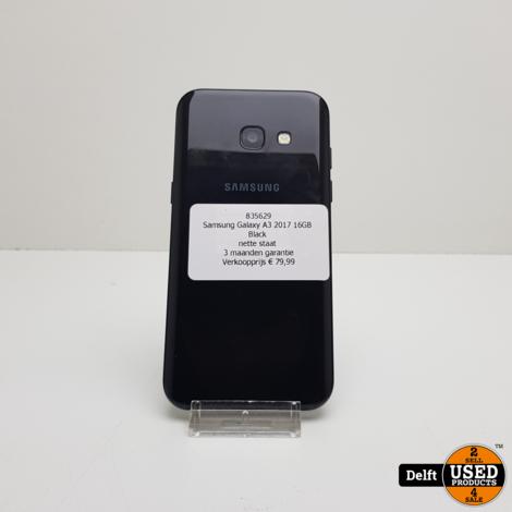 Samsung Galaxy A3 2017 16GB Black nette staat 3 maanden garantie