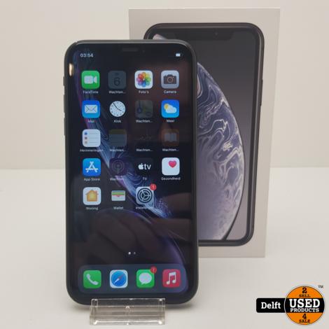 IPhone XR Black 128GB zeer nette staat 3 maanden garantie
