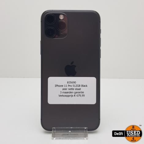 IPhone 11 Pro 512GB Black zeer nette staat 3 maanden garantie