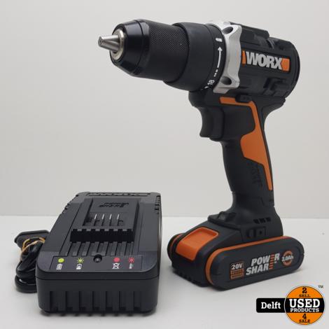 Worx WX102.9 accu schroeftol 20v met accu en oplader 1 maand garantie