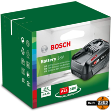 Bosch Li-Ion accu 18V 4.0 Ah/PBA 18V 4.0 AH nieuw in doos 1 maand garantie
