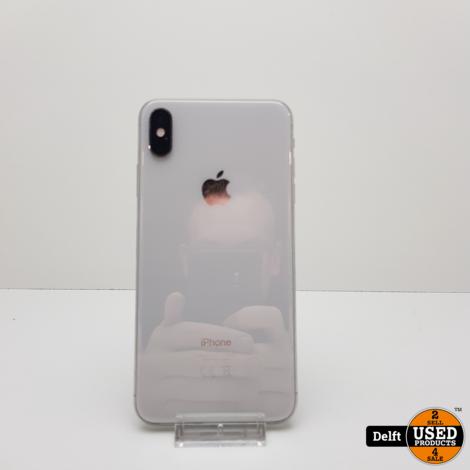 iPhone Xs Max 256GB Silver zeer nette staat 3 maanden garantie