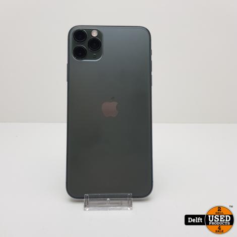 IPhone 11 Pro Max 64GB Midnight Green zeer nette staat 3 maanden garantie
