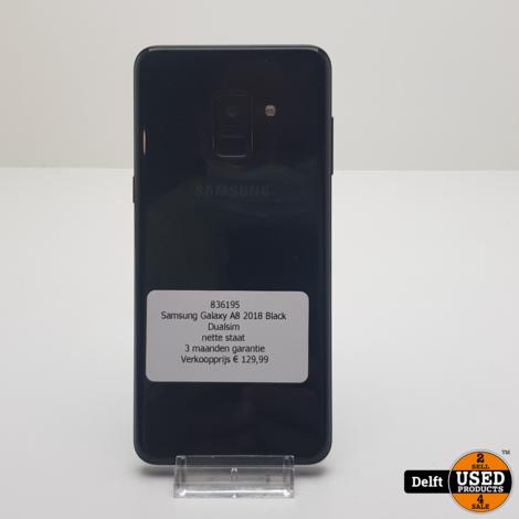 Samsung Galaxy A8 2018 Black Dualsim nette staat 3 maanden garantie