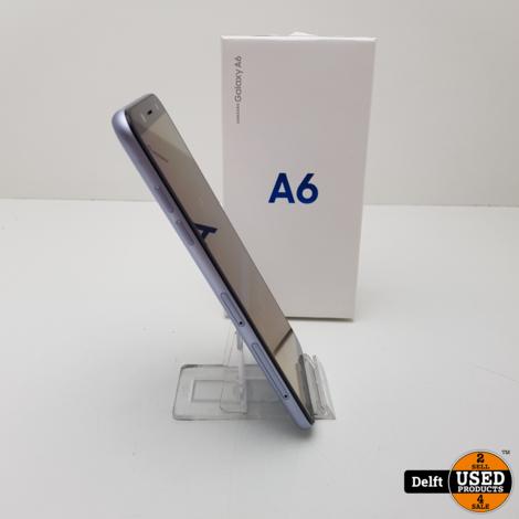 Samsung Galaxy A6 32GB Zilver Duosim zeer nette staat 3 maanden garantie