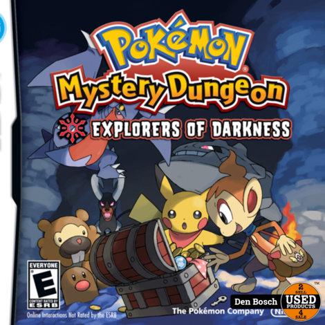 Pokemon Mystery Dungeon, Explorers of Darkness  -DS Game