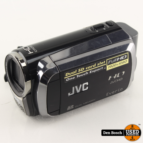 JVC GZ-HM200BE Full HD Camcorder met Oplader