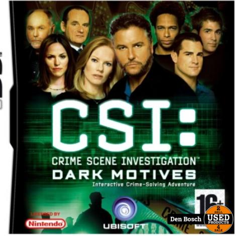 CSI: Dark Motives -DS Game