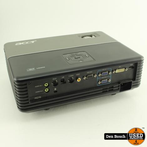 Acer P5270  Beamer met kabels en Afstandsbediening