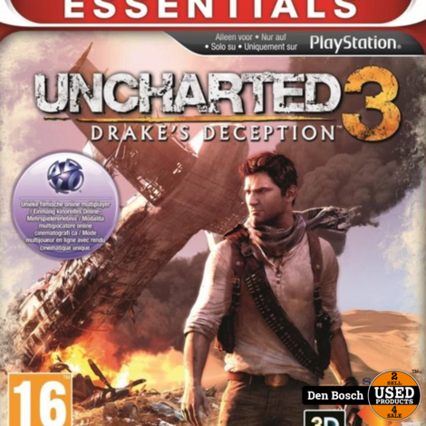 Uncharted 3 Drake's Deception (essentials) Playstation 3  -PS3 Game