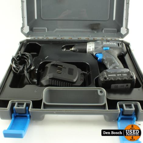 Gamma ABM12-LI Boormachine + 1 Accu, Oplader en Koffer