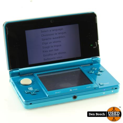 Nintendo 3DS Blauw + Lader