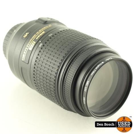 Nikon DX AF-S Nikkor 55-300mm 1:4.5-5.6 G ED met Zonnekap enTasje