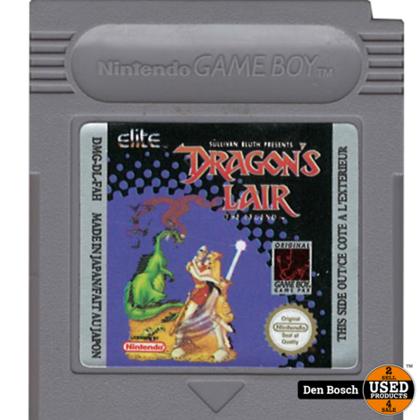 Dragon's Lair (losse cassette) - Gameboy Game