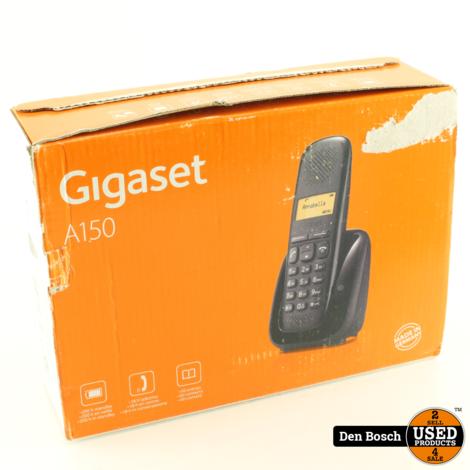 Gigaset A150 - Single DECT telefoon - Zwart